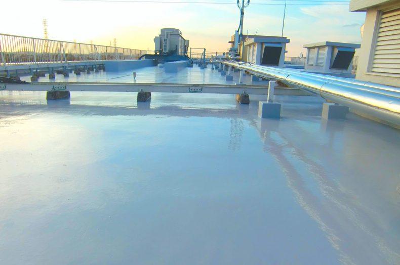 パラシオン越谷屋上防水保護塗装工事