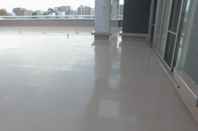三協ゴム株式会社二階屋上防水工事