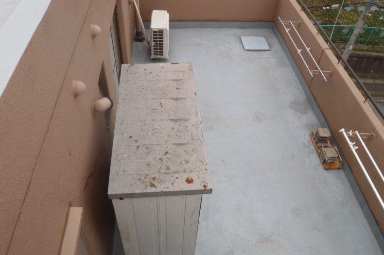 ラフィーヌショコラ屋上・4Aバルコニー防水工事